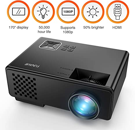 FUNAVO Proyector RD-815, Mini LED Videoproyectore, Proyector para ...
