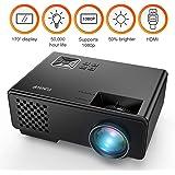 Proiettore, Mini Proiettore FUNAVO RD-815 per l'Home Theater Multimediale, Supporta 1080P, Portatili, Smartphone, Amazon Fire TV Stick e DVD con HDMI, USB, VGA e AV - Nero