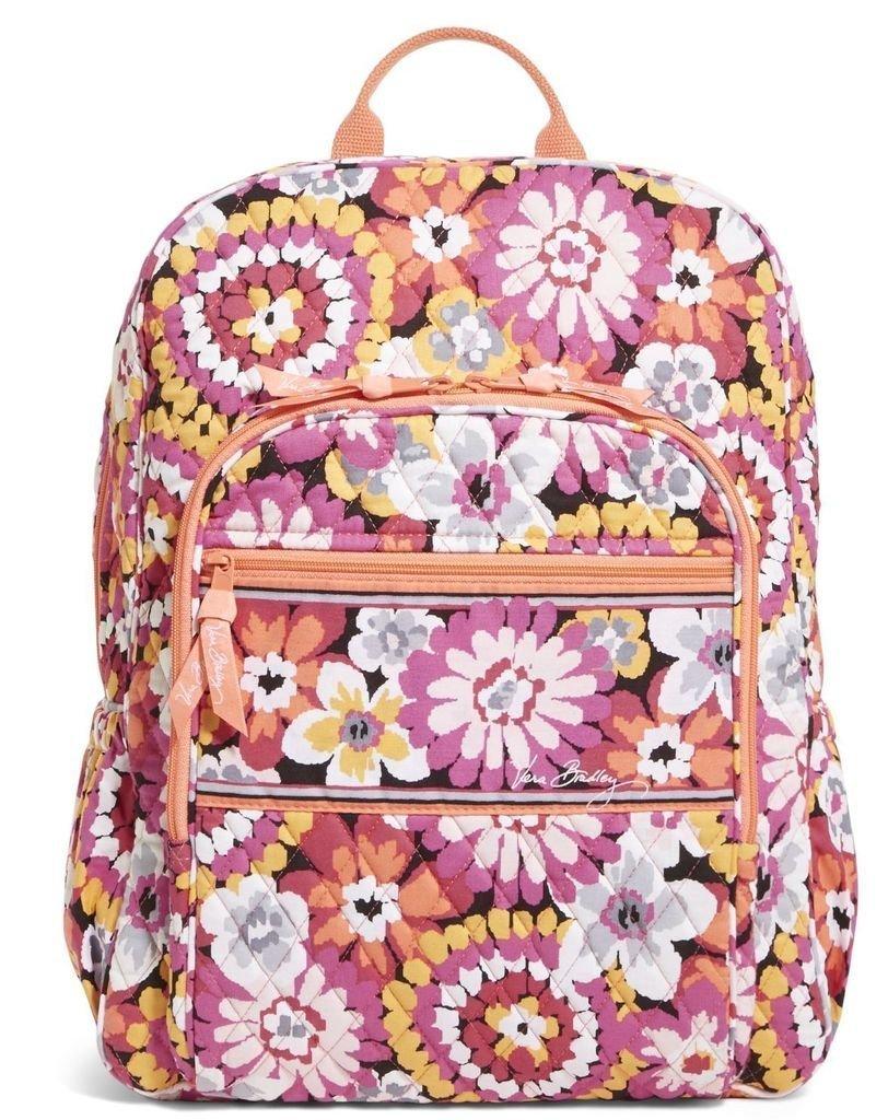 Vera Bradley Womens Campus Backpack Pixie Blooms Backpack by Vera Bradley
