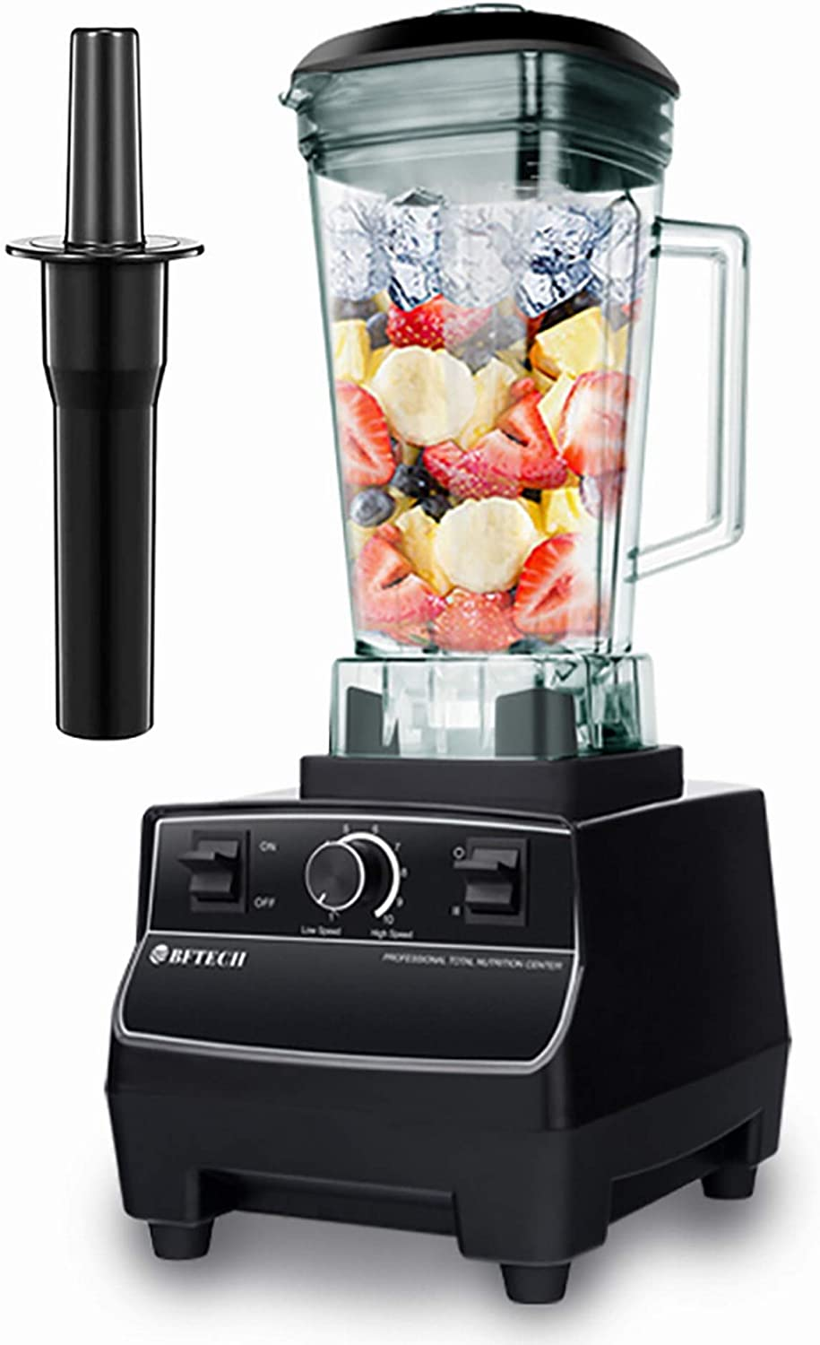 BFTECH PB2200 Explorian Blender Professional-Grade Commercial 2L 2200 Watt ,Total Crushing Technology for Smoothies, Ice and Frozen Fruit (Black)