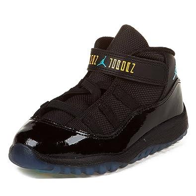 newest db5cc 5816f Baby Jordan 11 Retro (TD) Basketball Shoes - 378040 006, Black Gamma