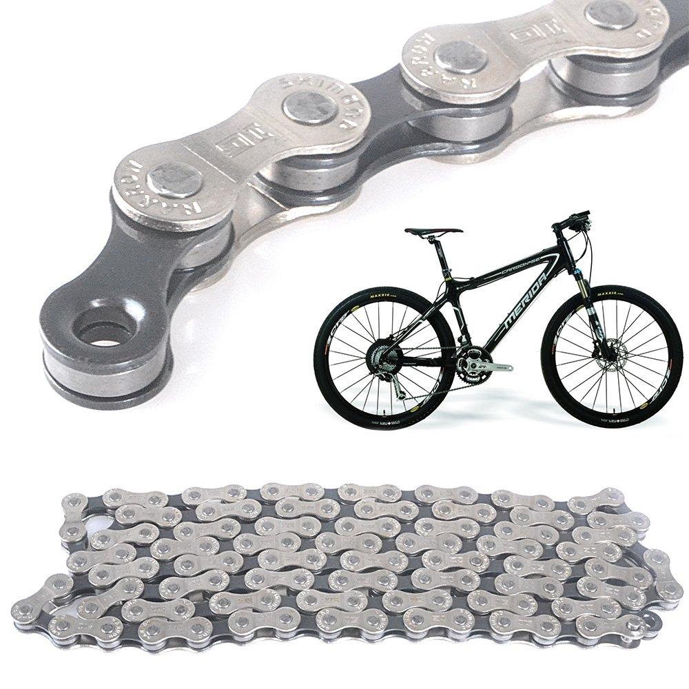 Cadena 116 eslabones 6/7/8 Compartimento de cadena de bicicleta ...