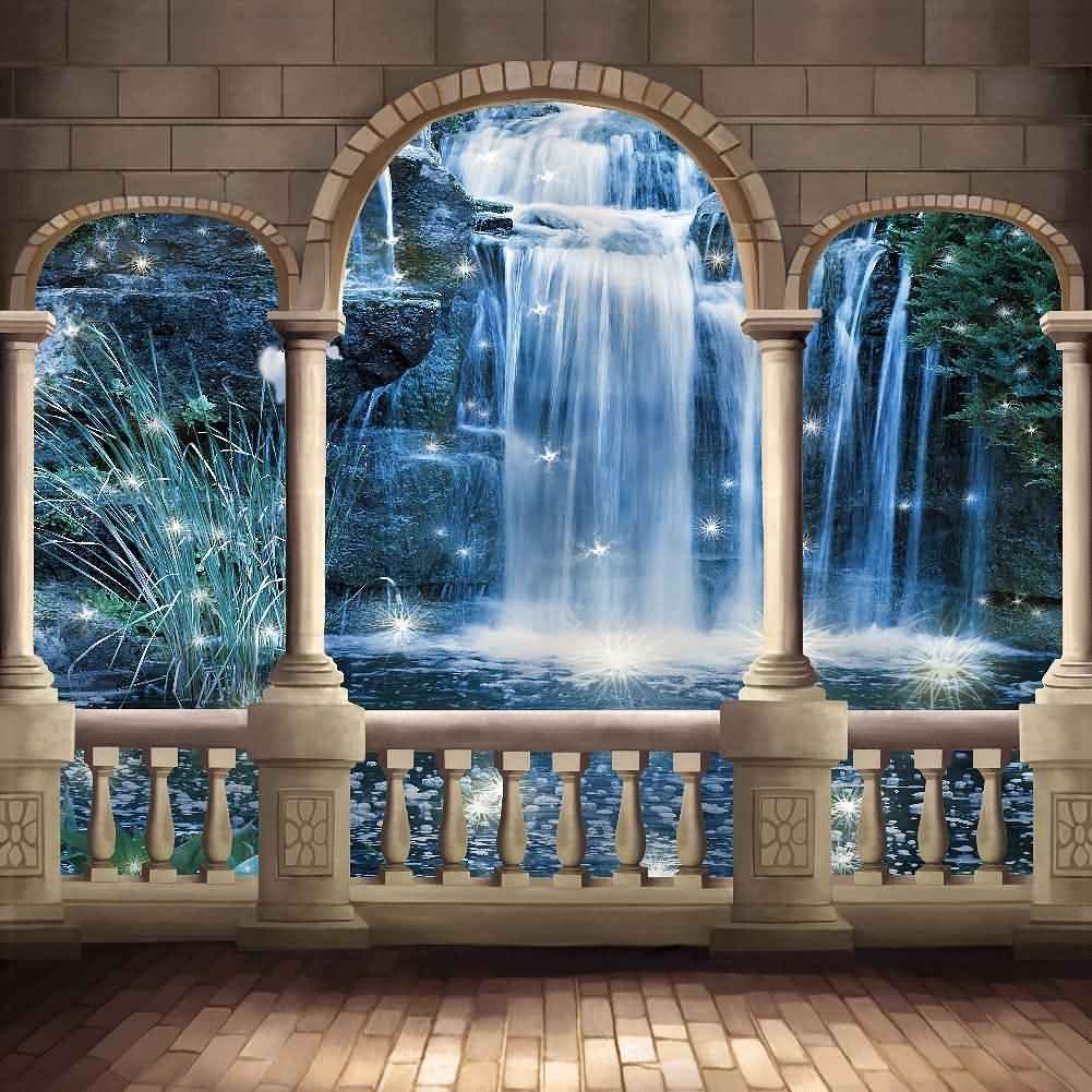 GladsBuy Enjoying The View 10' x 10' Digital Printed Photography Backdrop Arches or Pillars Theme Background YHA-353