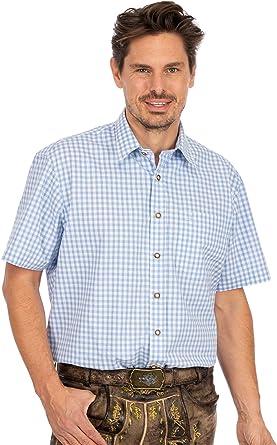 OS Trachten Karo 121000-2602-41 - Camisa de Manga Corta ...