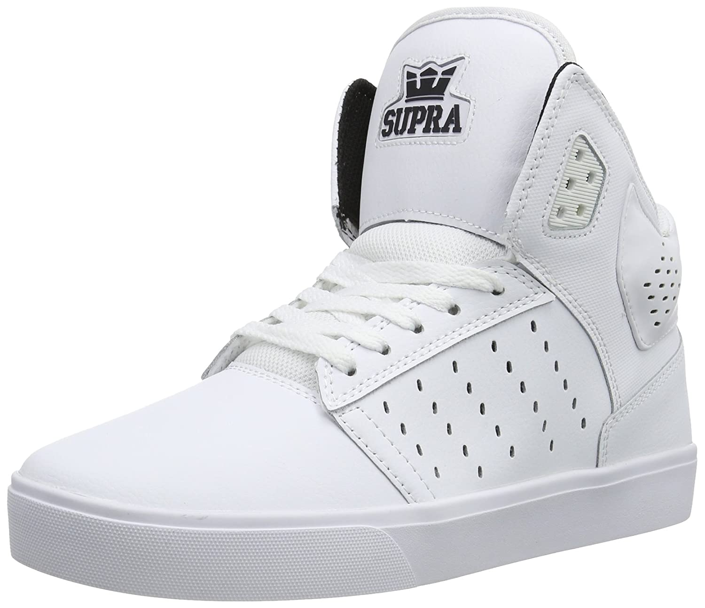 35a834b59960c Supra Boys Atom Male Athletic White/White‑White: Amazon.ca: Shoes ...