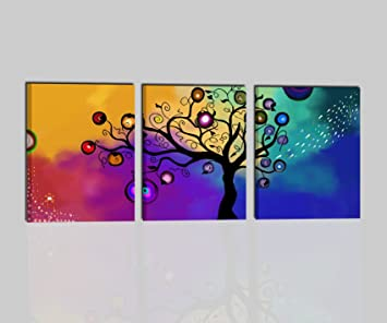 Moderne Bilder Trittici Handbemalt Öl Auf Leinwand Rahmen Modern Bunt  Triptychon U2013 Perly