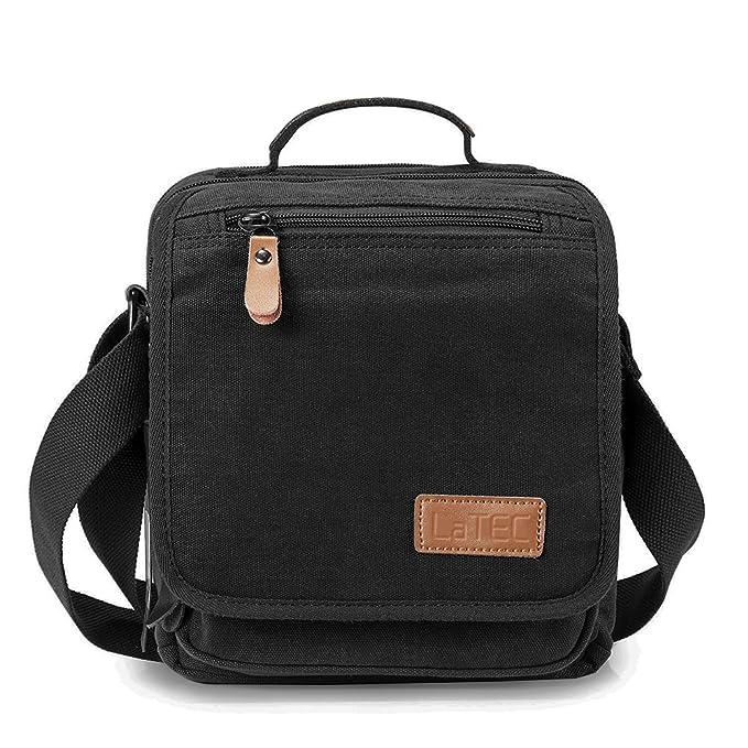8 opinioni per LaTEC Borsa multifunzionale di tela con tracolla, borsa da lavoro 27 cm * 22cm *