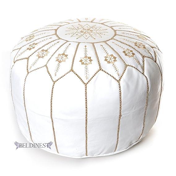 Moroccan Pouf Small O White Moroccan Pouf Www