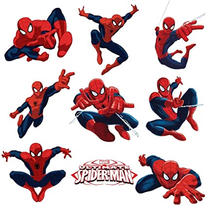 Spiderman Sticker Pack For Kids Room Wall Decor | Peel And Stick Wall Decal  For Ultimate