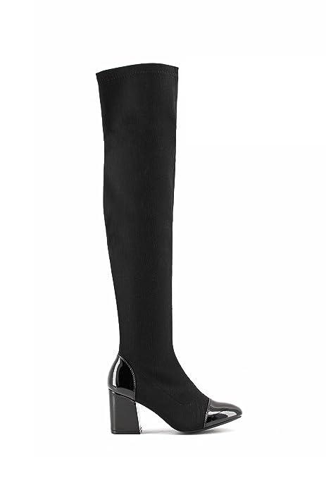 Botas altas señora zapatos deportiva elástico largo caña botas 36 - 41