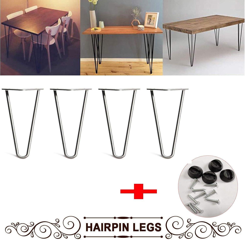Patas de metal para mesa de café (4 unidades, 25,4 cm, incluye ...