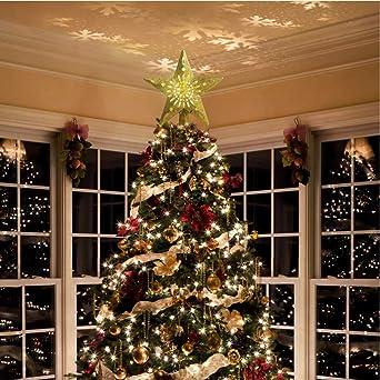Topper de árbol de Navidad Toppers de árbol de nieve 3D iluminado ...