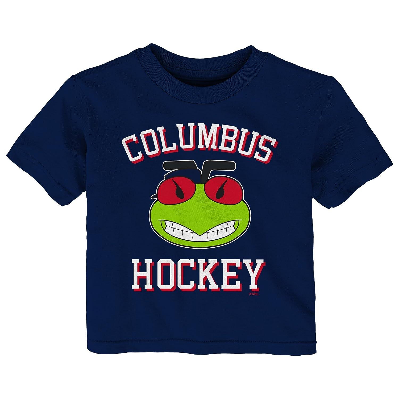 【500円引きクーポン】 (Columbus Sleeve Blue Jackets, 12 Months, Tee Navy) B0764219P1 - NHL unisex-child