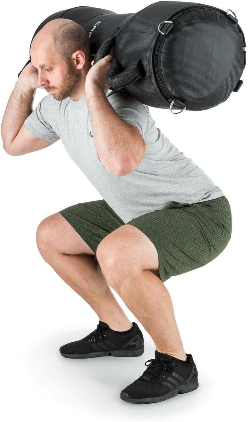 Negro Saco Entrenamiento Arena 28kg, 4 Asas sujeci/ón, Apto colgado de Techo, Altamente Reforzado, Fibra sint/ética CapitalSports Capital Sports Agoniz Power Bag Saco de Boxeo