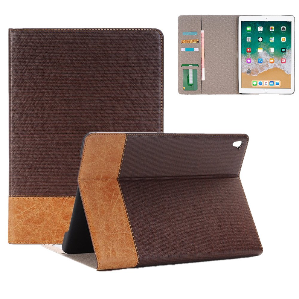 MeiLiio iPad Mini 4 Case Protective Cover,Rugged Folio Book Style Flip Case Screen Protector Hybrid PU Leather with Card Slots Case Stand Cover for Apple iPad Mini 4 Model A1538/A1550 (Brown)