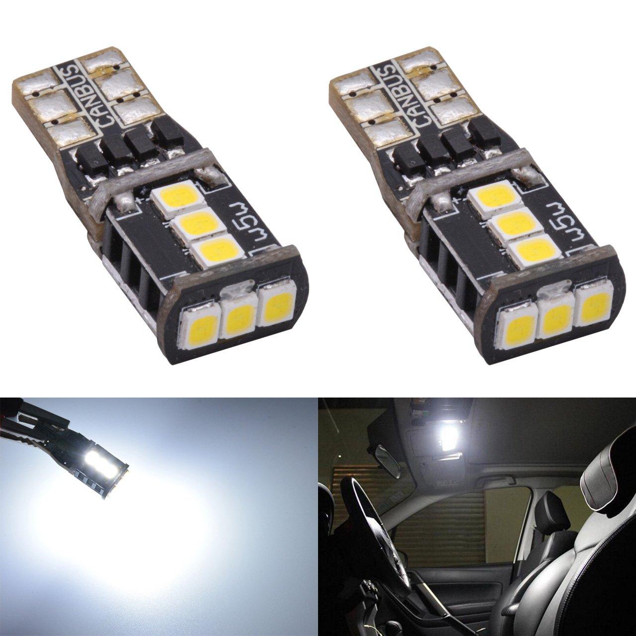 Katur T10 2825 W5 W 194 168 168 NA 175 Inté rieur de voiture ampoule LED 2835 laiteux CANBUS Erro (gratuit Feux de plaque d'immatriculation Sidemarker Porte Courtois Dome carte ampoules LED DC 12
