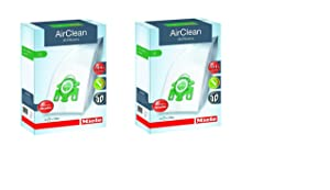 Miele AirClean 3D Efficiency Dust Bag, Type U, 8 Bags & 4 filters