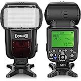 Opteka IF-980 i-TTL Dedicated Auto-Focus Speedlight Flash with LCD Display for Nikon Z50, Z7, Z6, D6, D5, D4, D850, D810, D78