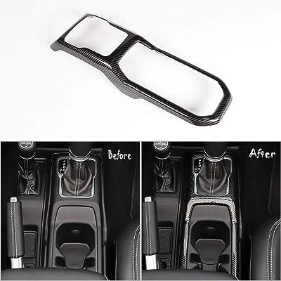 RT-TCZ Gear Shift Pane Control Center Console ABS Trim Panel Cover Decor for 2020-2020 Jeep Wrangler JL JLU & 2020 Jeep Gladiator (Carbon Fiber): Automotive