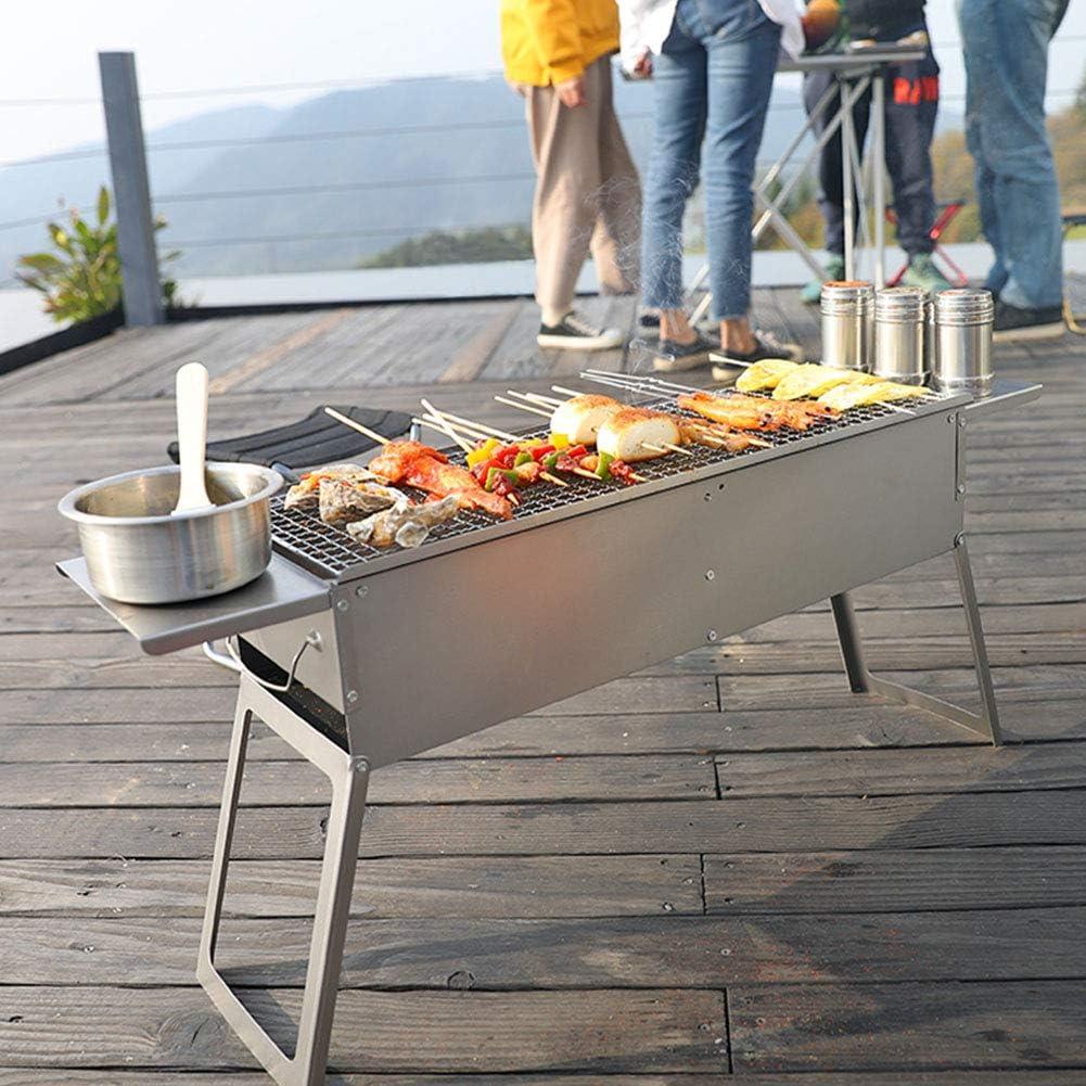 MENG Barbecue Au Charbon De Bois Pratique, Barbecue De Camping, Concentré De Feu, Largeur Modérée, Barbecue De Jardin en Plein Air,Package 3 Package 1