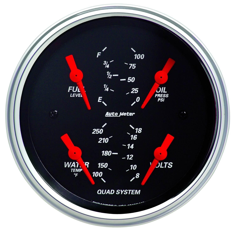 Auto Meter 1412 Designer Black Quad Gauge by Auto Meter (Image #1)
