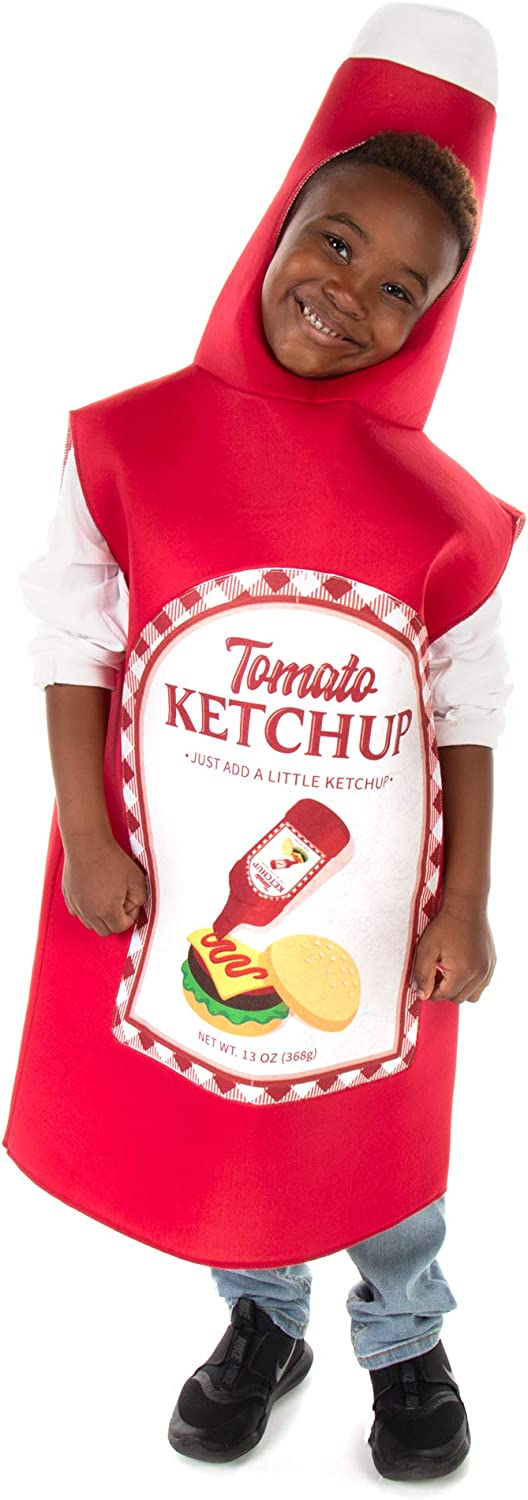 Tomato Ketchup Bottle Childrens Halloween Costume - Fun Food Kids Outfit