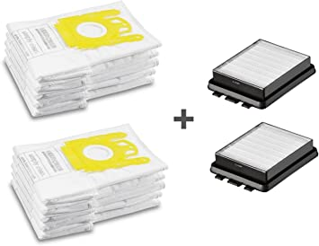 Staubbeutel Filtertüten 10 Staubsaugerbeutel für Kärcher VC 6350 2 Filter