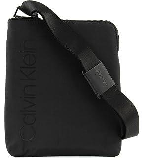 1cd2ff1a40 Calvin Klein Jeans Strapped Flat Crossover, Men's Shoulder Bag, Black,  4x27x23 cm (