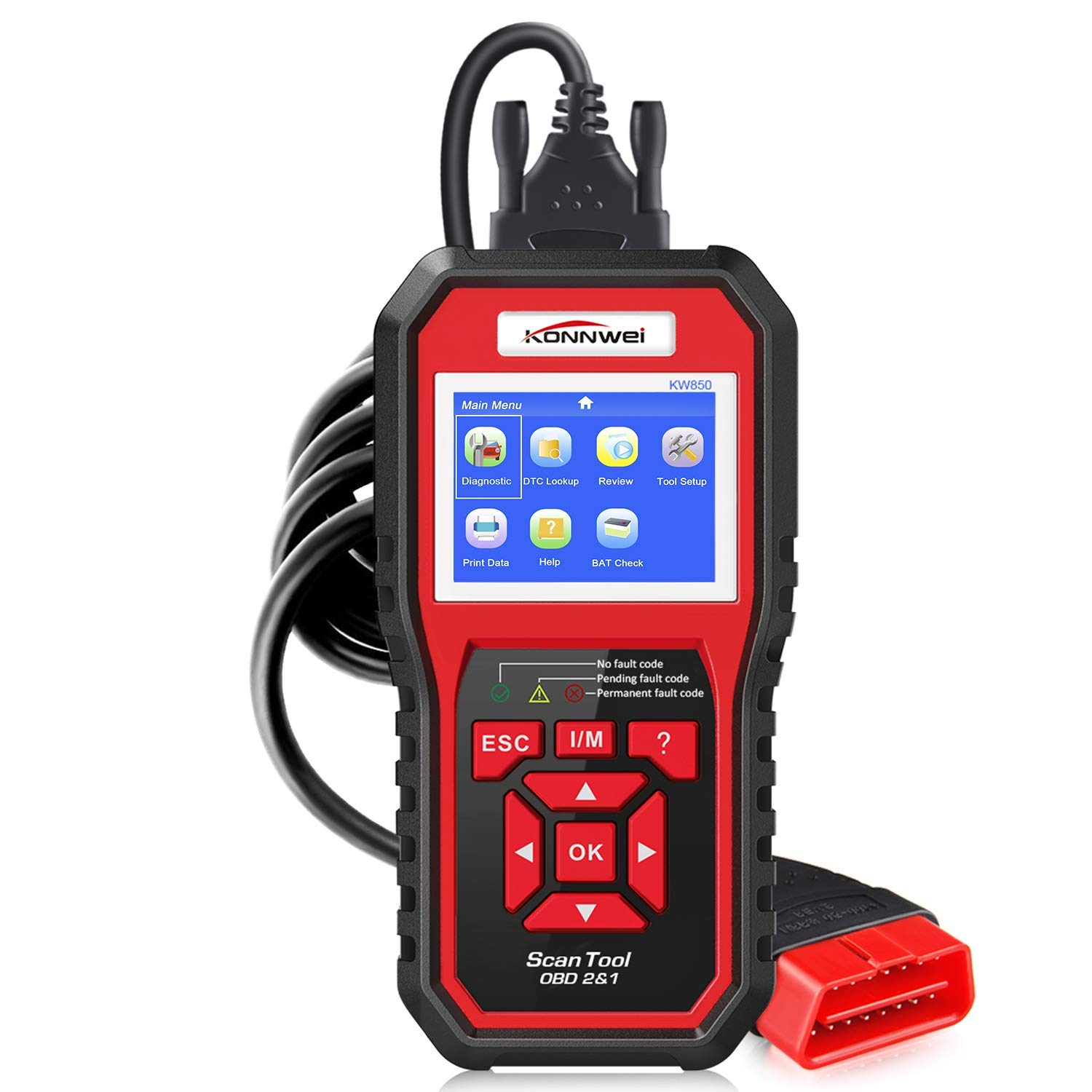 soyond Car OBD2 Scanner, OBD OBD2 CAN Code Reader Auto OBDII Diagnostic Scan Tool Engine Tools with Check Engine Light