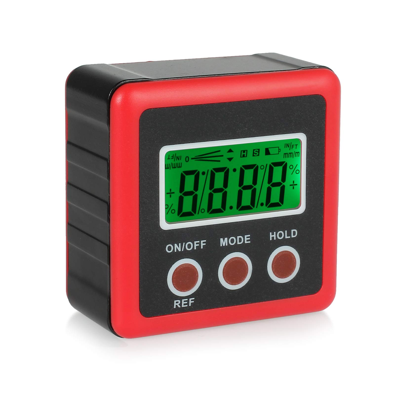 Justech Digital Angle Gauge Protractor Inclinometer Bevel Box Red by Justech