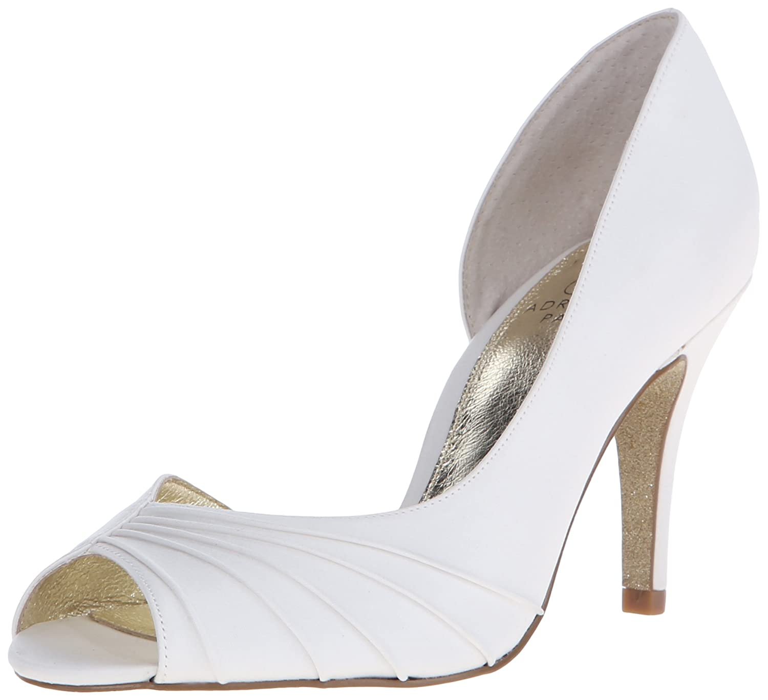 Adrianna Satin Papell Flynn Femmes Talons Satin Talons Flynn Ivoire 591000c - therethere.space
