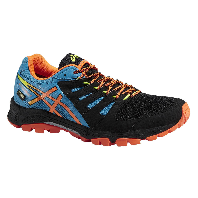 Asics T535n/9930 - Zapatillas para Correr en montaña para Hombre Onyx/Flash Orange/AT: Amazon.es: Zapatos y complementos