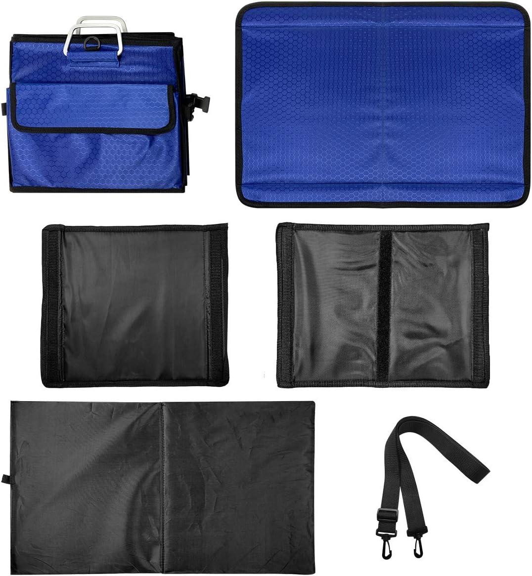 Macallen Organizer Portabagagli Auto Contenitore Borsa Bagagliaio Portaoggetti per Accessori Furgone Porta Oggetti Baule Rigido Divisorio 60x35x30 cm Blu