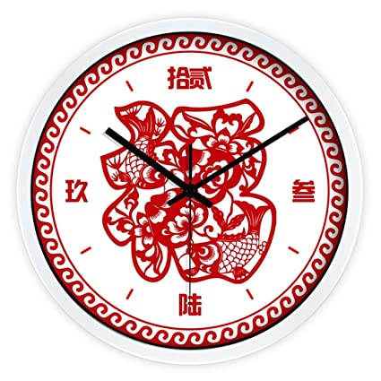 ysayc mute wall clock creative fashion living room bedroom new year wall clock chinese style chinese