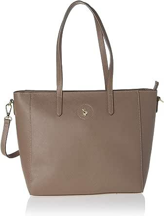 US Polo Womens Jones Shopping Bag, Taupe - BIUJE0661WVP501