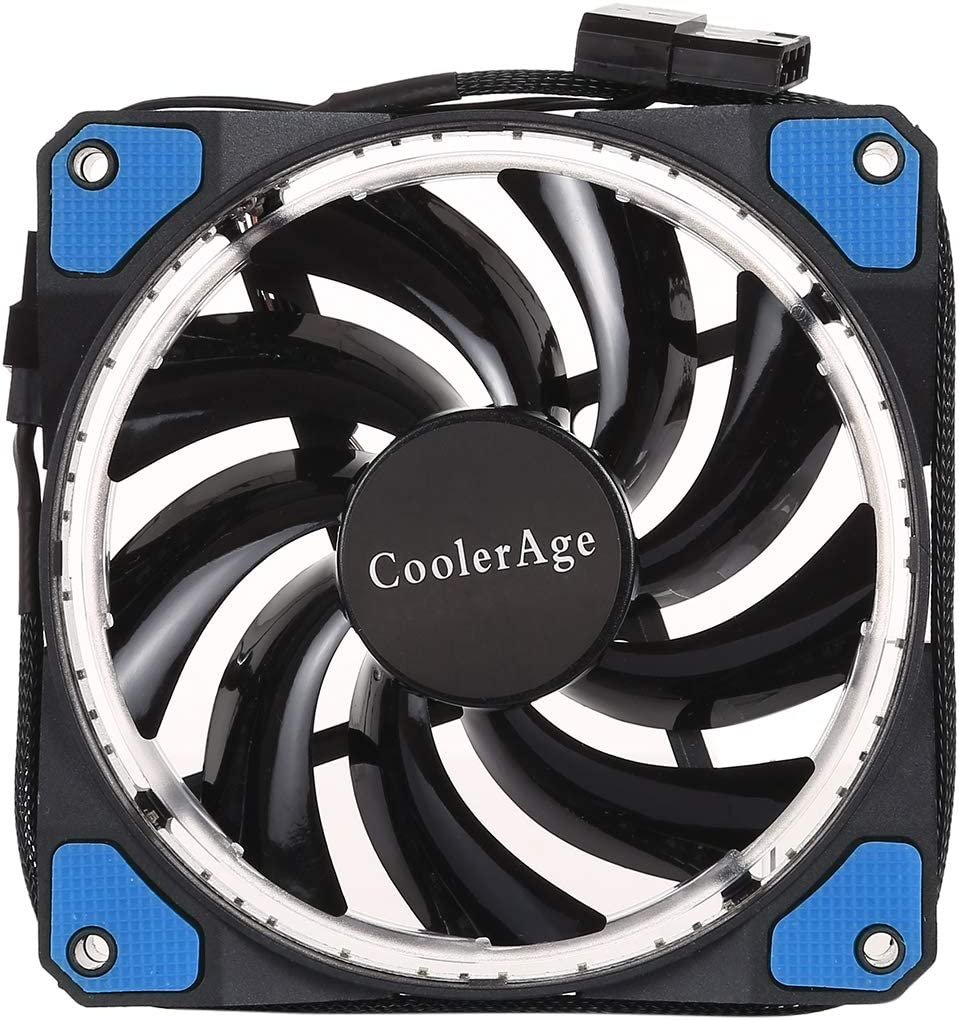 Color : Blue WQFStore with Power Connection Cable /& Green Wakeful Green Color LED 12cm 3pin Computer Components Chassis Fan Computer Host Chilling Fan Silent Fan Chilling