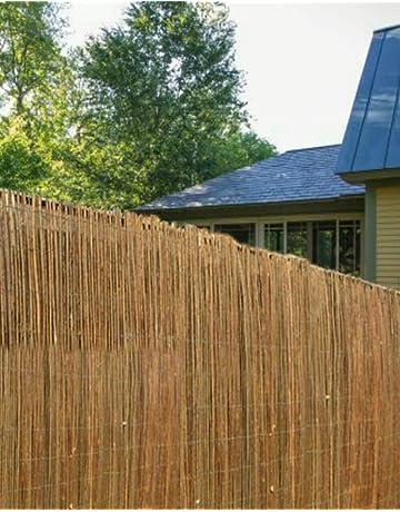 Wooden Willow Screening Roll Garden Screen Fencing Fence Panel Outdoor 4M Long