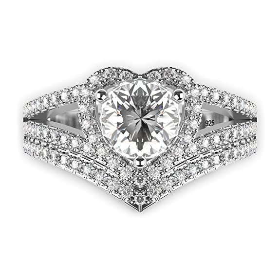 High Quality Cubic Zirconia Wedding Rings 18 New Amazon Sterling Silver Cubic