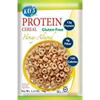 Kay's Naturals Protein Cereal, Honey Almond, Gluten-Free, Low Carbs, Low Fat, All...
