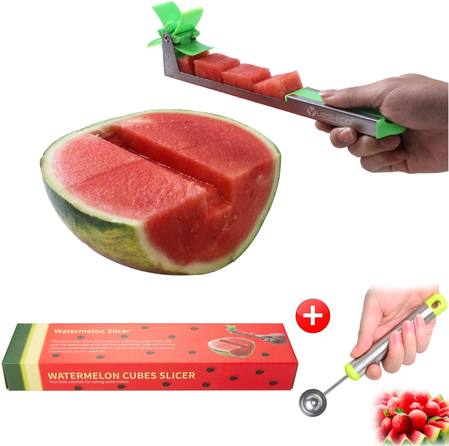 Watermelon Cutter Fruit Cutting Tool Convenient Windmill Shape Cubes Cutters