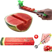Yueshico Stainless Steel Watermelon Slicer Cutter Knife Corer Fruit Vegetable Tools Kitchen Gadgets with Melon Baller Scoop Extra Original Sold by YESCO INTERNATIONAL LLC