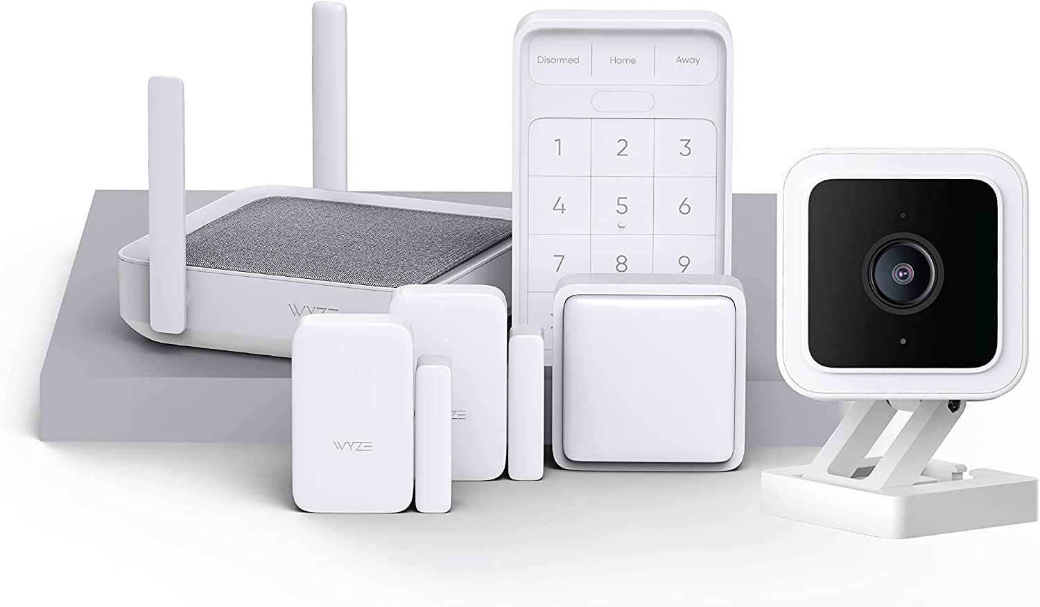Wyze Home Security System Core Kit with Hub, Keypad, Motion, Entry Sensors (2) with Wyze Cam v3 Indoor/Outdoor Camera