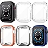 LORDSON 6 Pack Screen Protector Case Compatible with Apple Watch SE Series 6/5/4 44mm, All-Around Soft TPU Protective Case Wa