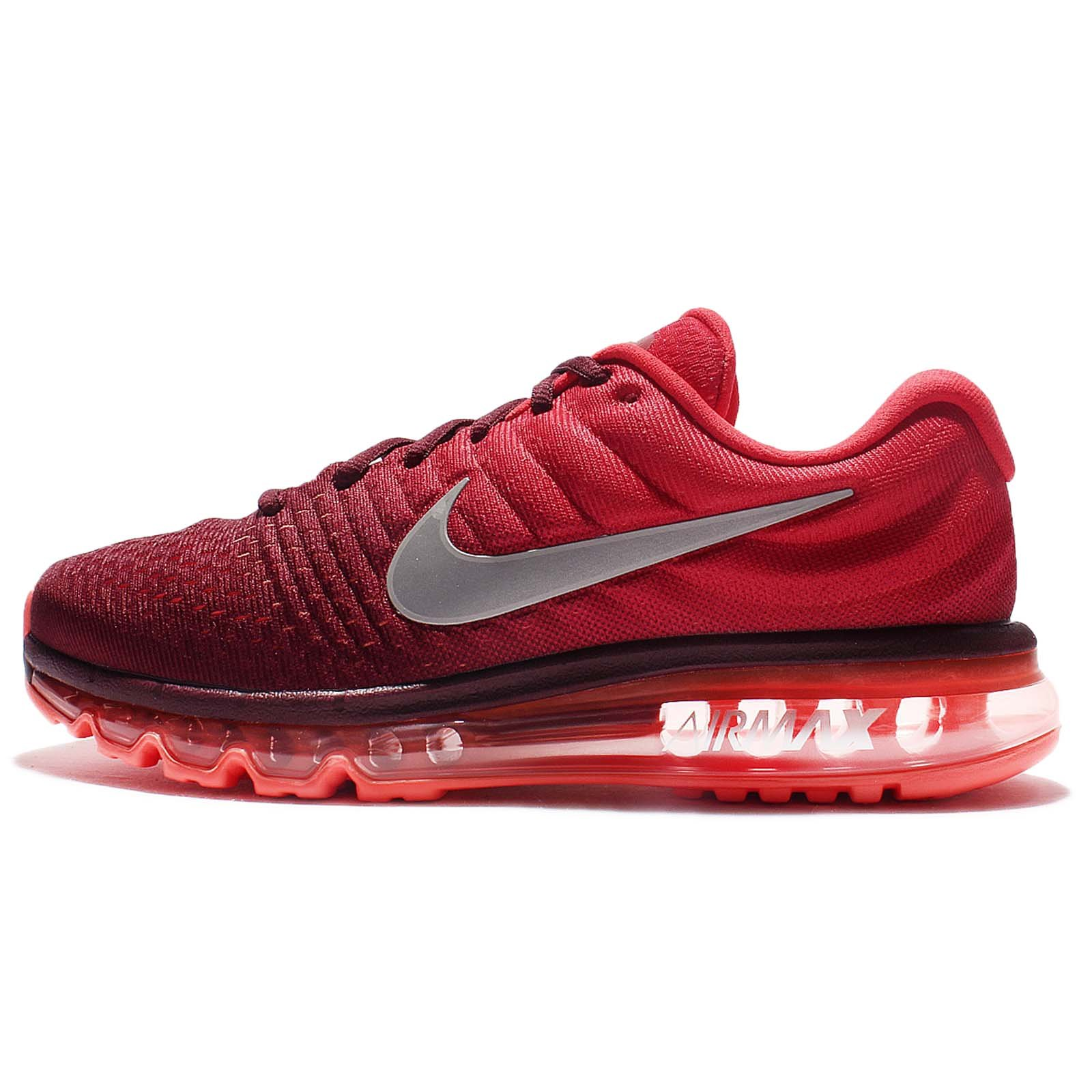 the best attitude 32d74 80917 Galleon - Nike Men s Air Max 2017 Running Sneakers (Maroon White Gym Red  Nylon) Size 10