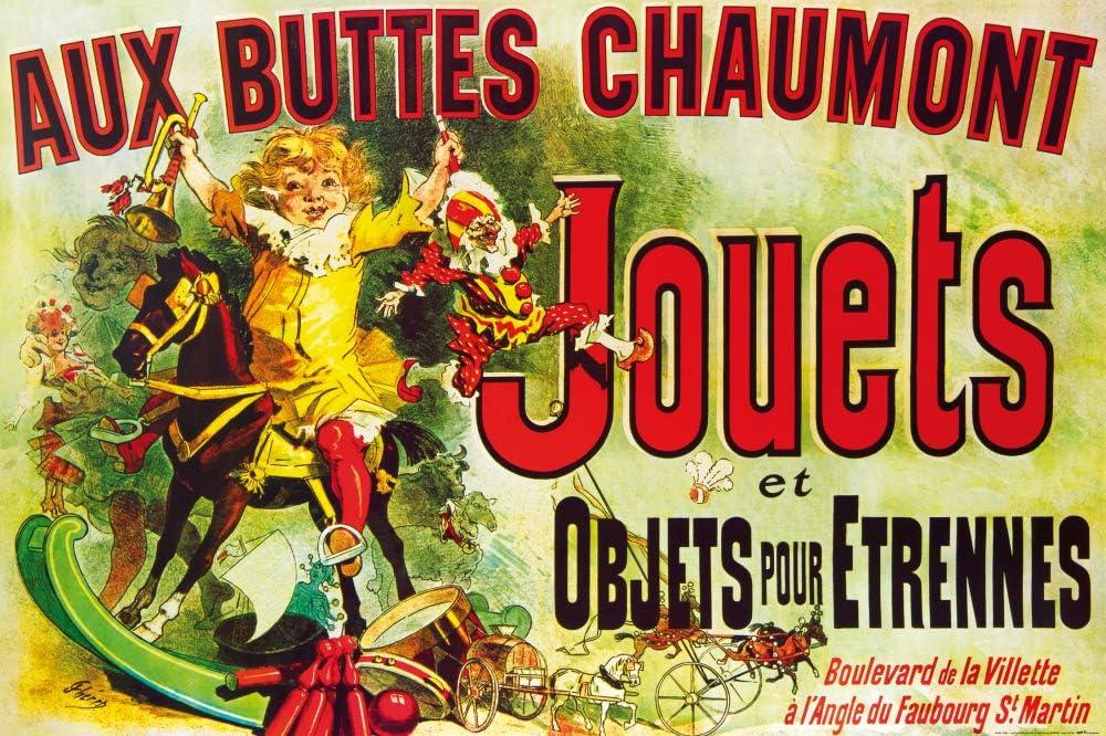 1art1 Vintage - Aux Buttes Chaumont, Jouets Et Objets Pour Étrennes, Jules Cheret, 1885 Póster (120 x 80cm)