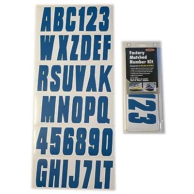 Hardline Products BLU350EC Solid Blue Number Factory Matched Registration Kit: Automotive
