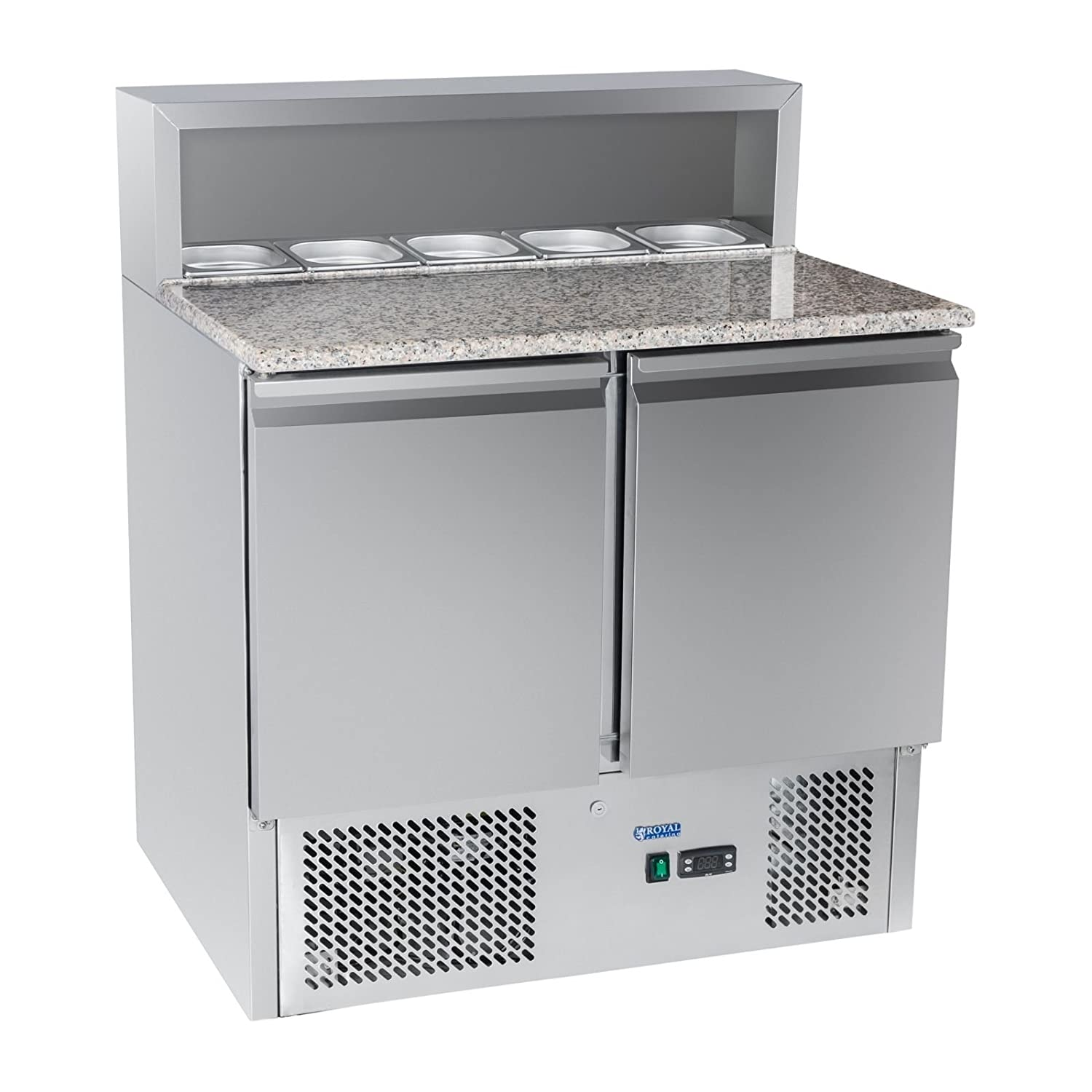 Royal Catering - RCKT-90/70-G - Banco pizza refrigerato - 250 W