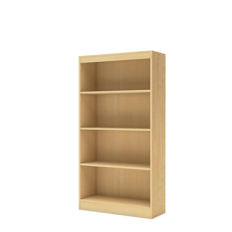 South Shore 12336 Axess 4-Shelf Bookcase, Blueberry