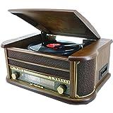 Soundmaster NR 513 Nostalgie Lecteur multifonctions CD / disques vinyles / cassettes audio / radio AM/FM (Import Allemagne)
