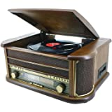 Soundmaster NR 513 - Tocadiscos (50 W, 230 V, Marrón)